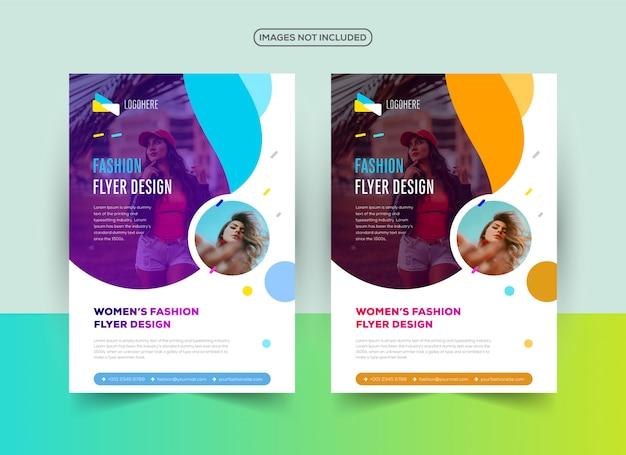 Modello di progettazione professionale flyer moda
