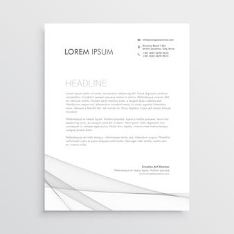 Modello di progettazione semplice carta intestata