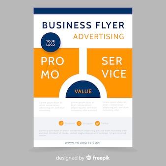 Modello di pubblicità del volantino di affari