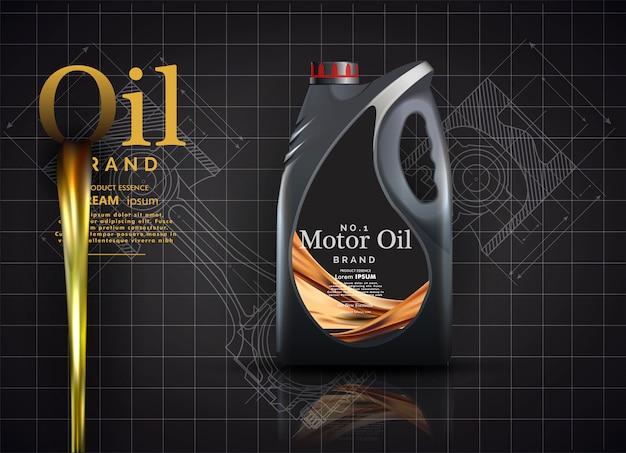 Modello di pubblicità di olio motore