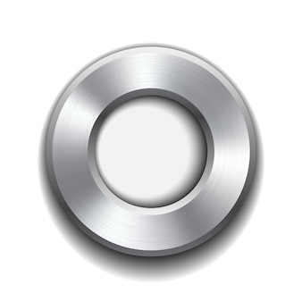 Modello di pulsante ciambella con struttura in metallo. illustrazione.