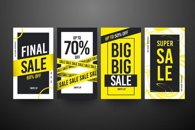 Modello di raccolta della storia di instagram di vendita