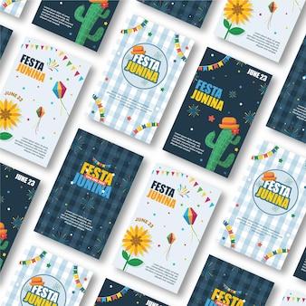 Modello di raccolta delle carte festa junina