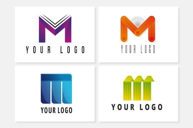 Modello di raccolta logo m.