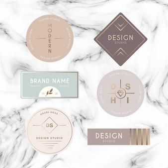 Modello di raccolta logo minimale