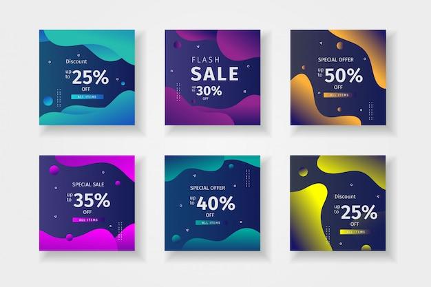 Modello di raccolta post di instagram per le vendite