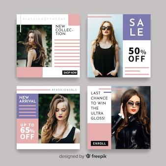 Modello di raccolta posta instagram con foto