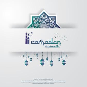 Modello di ramadan kareem o eid mubarak