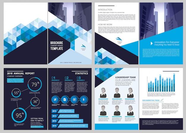 Modello di rapporto annuale disposizione di progettazione dell'opuscolo di affari della copertina di rivista finanziaria del documento semplice