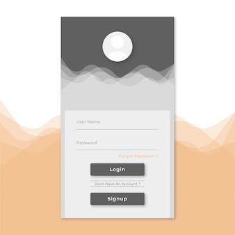 Modello di registrazione per l'accesso