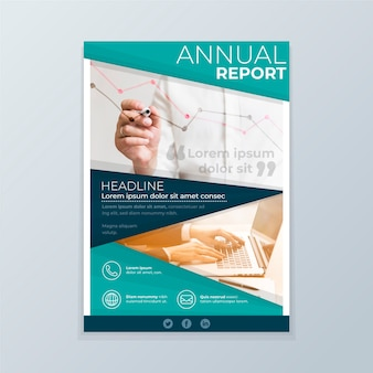 Modello di relazione annuale con foto