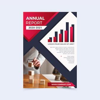 Modello di relazione annuale professionale con foto