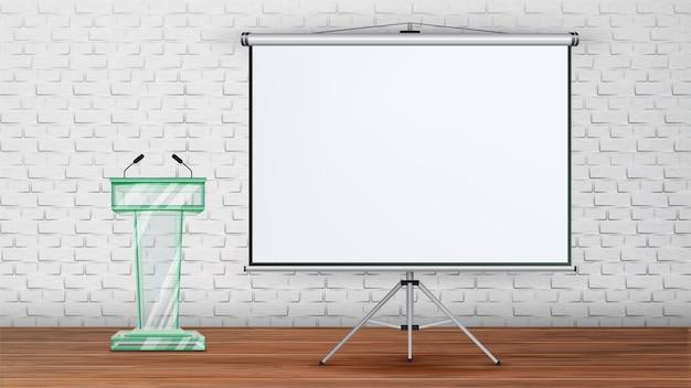 Modello di sala seminario di incontro d'affari