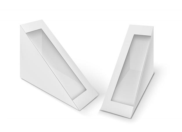 Modello di sandwich. set di due scatole di cartone