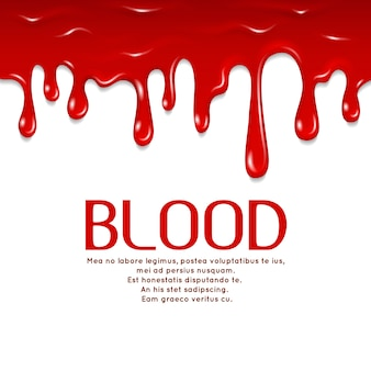 Modello di sangue gocciolante