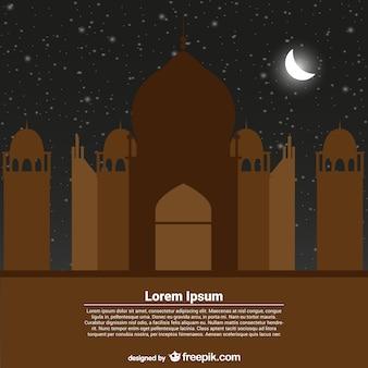 Modello di scheda di auguri per il ramadan kareem