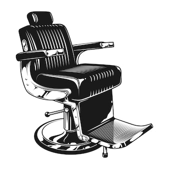 Modello di sedia moderna da barbiere vintage
