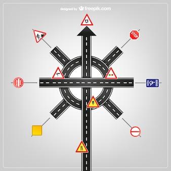 Modello di segnali stradali di vettore