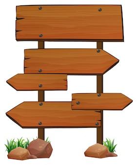 Modello di segni di legno su sfondo bianco