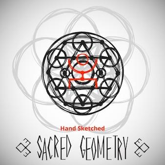 Modello di sfondo astratto con il disegno geometria sacra