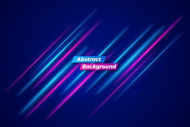 Modello di sfondo astratto movimento al neon