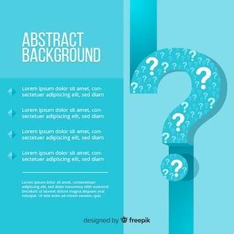 Modello di sfondo blu domanda piatta