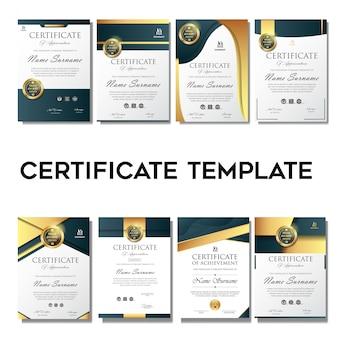 Modello di sfondo certificato elegante e semplice