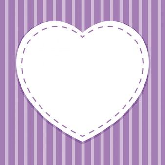 Modello di sfondo con cornice cuore