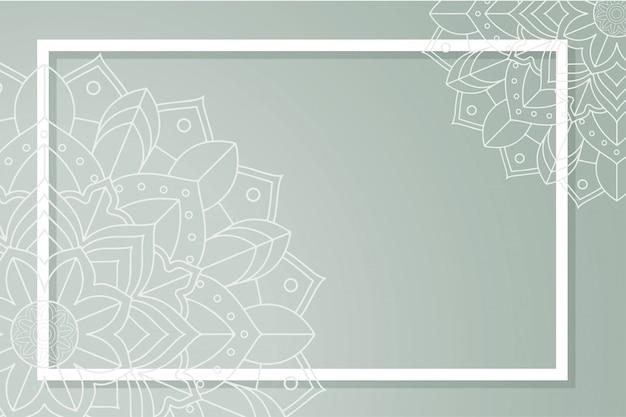 Modello di sfondo con disegni di mandala