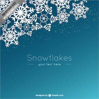Modello di sfondo con fiocchi di neve bianche
