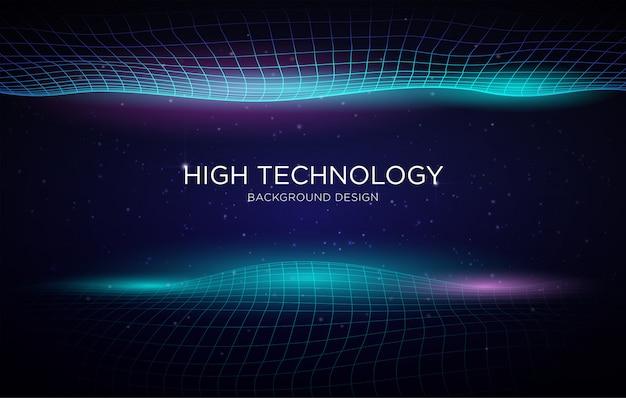 Modello di sfondo copertina ad alta tecnologia