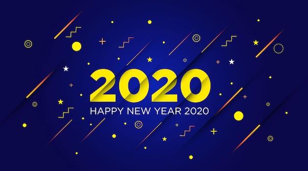 Modello di sfondo del buon anno 2020
