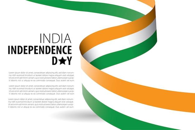 Modello di sfondo dell'indipendenza dell'india