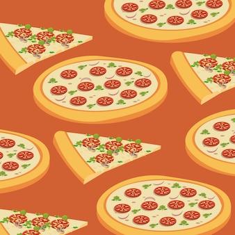 Modello di sfondo della pizza