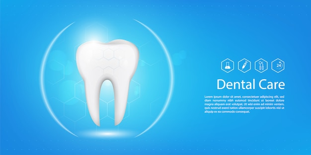 Modello di sfondo dentale