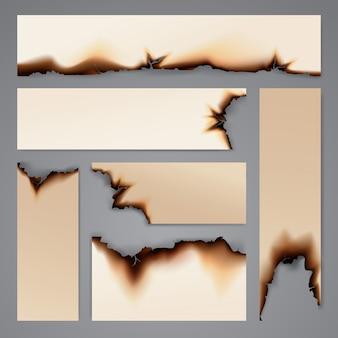 Modello di sfondo di carta bruciata banner