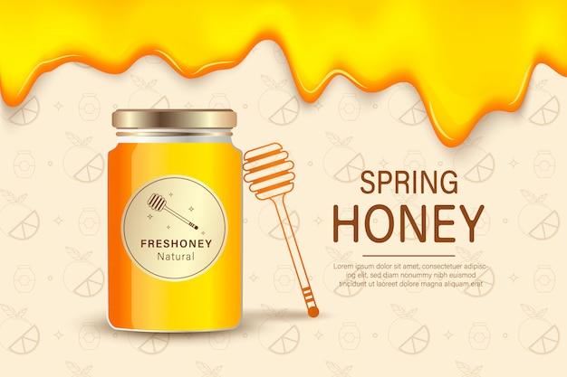 Modello di sfondo di miele di fattoria