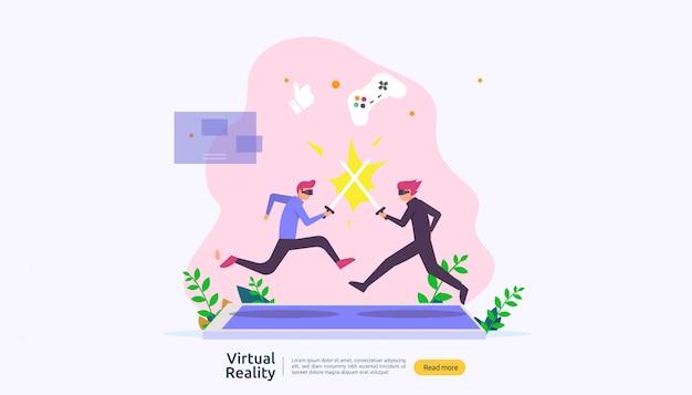 Modello di sfondo di realtà aumentata virtuale