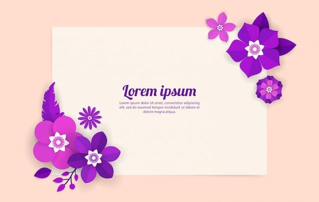 Modello di sfondo floreale per celebrazione, eventi commerciali, vacanze e auguri, biglietti d'invito