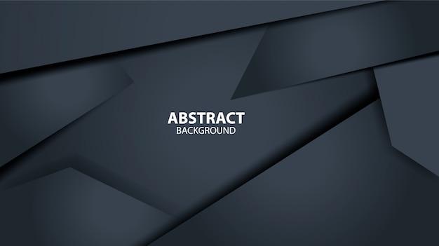 Modello di sfondo geometrico astratto nero scuro. forma moderna.