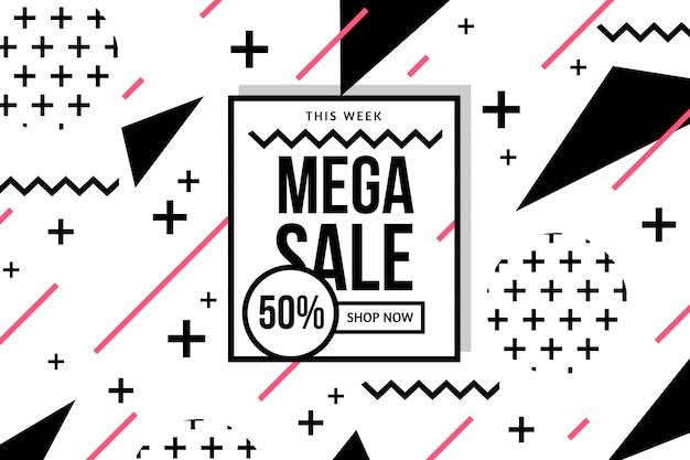 Modello di sfondo geometrico di vendita