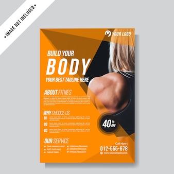 Modello di sfondo layout flyer sport