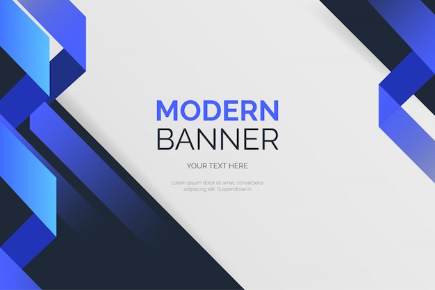 Modello di sfondo moderno con forme blu