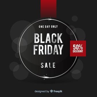 Modello di sfondo nero venerdì vendite