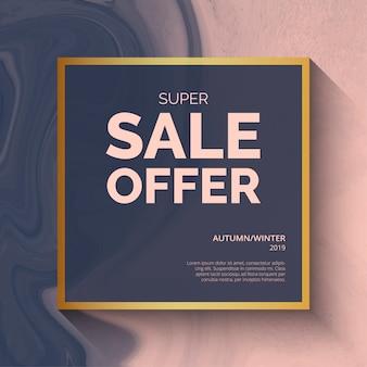 Modello di sfondo offerta super vendita