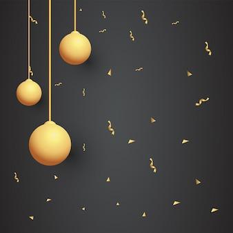 Modello di sfondo palla d'oro