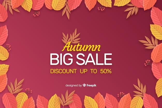 Modello di sfondo piatto autunno vendita
