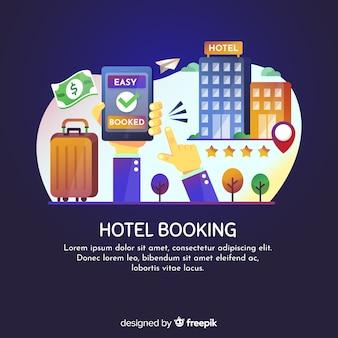 Modello di sfondo prenotazione hotel
