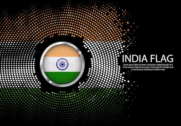 Modello di sfumatura mezzitoni sfondo della bandiera india.