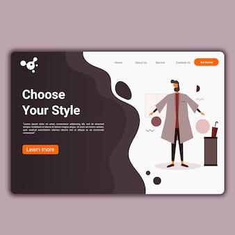 Modello di siti web per sito web o app
